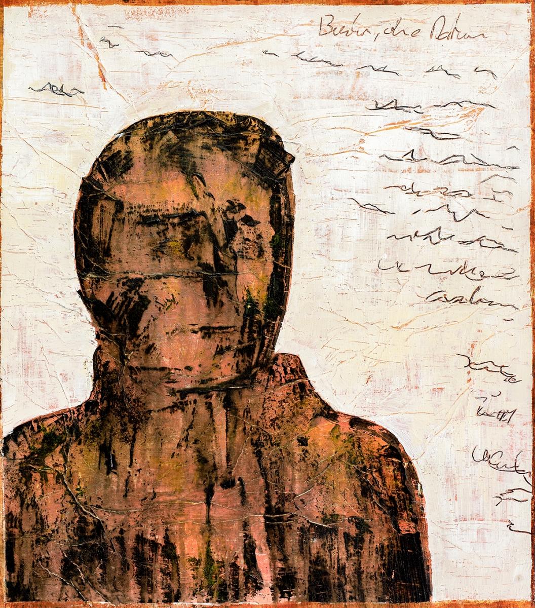 Berlin ohne Datum  (Serie Kleist) // 45x40, Acryl, Ölkreide auf Papier, 2019