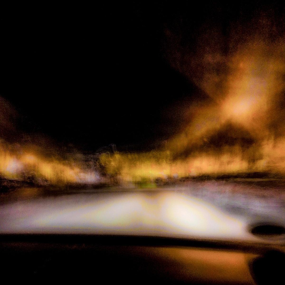 Unterwegs... (Nacht) // 18 x18, Fineart Print auf Photorag, 2018