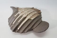"""Cochlea, aus der Serie """"Paläozoikum"""" , Steinzeug, Glasur"""