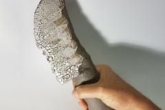 """ein Messer, aus der Serie """"Penthesilea"""", Steinzeug, Glasur"""