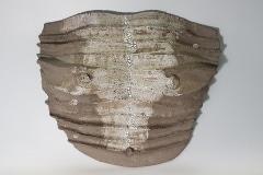 """Brustpanzer, aus der Serie """"Penthesilea"""", Steinzeug, Glasur"""