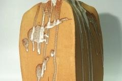 """Nr. 02 aus der Serie """"Lehmfelsen"""", Steinzeug, Glasur"""