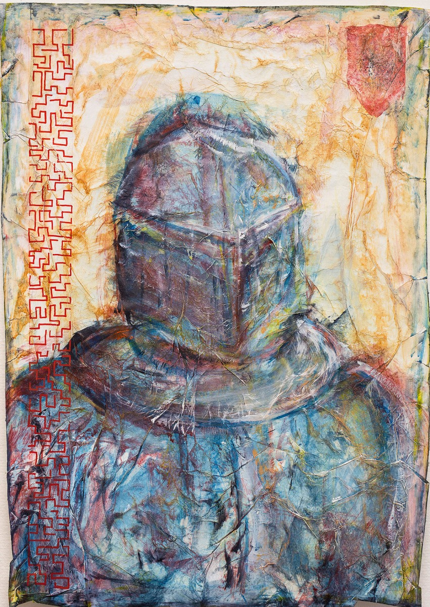 Vor dem Gesetz - Portrait  #1 // 90 x 65, Acryl, Ölkreide auf Papier, 2018
