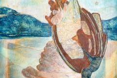 Der Fasan, die Jagd und die Nachbarn  //  85 x 75, Acryl, Ölkreide auf Papier, 2019