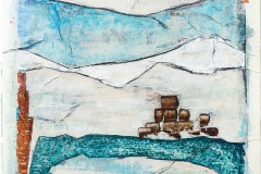 Serie Woher Wohin Blatt 12  //  28 x 23, Acryl, Ölkreide auf Papier, 2019