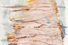 Serie Woher Wohin Blatt 13  //  28 x 23, Acryl, Ölkreide auf Papier, 2019