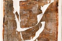 Serie Woher Wohin Blatt 19  //  28 x 23, Acryl, Ölkreide auf Papier, 2019