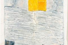 Serie Woher Wohin Blatt 21  //  28 x 23, Acryl, Ölkreide auf Papier, 2019