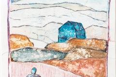 Serie Woher Wohin Blatt 31  //  28 x 23, Acryl, Ölkreide auf Papier, 2019