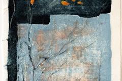 Serie Woher Wohin Blatt 32  //  28 x 23, Acryl, Ölkreide auf Papier, 2019