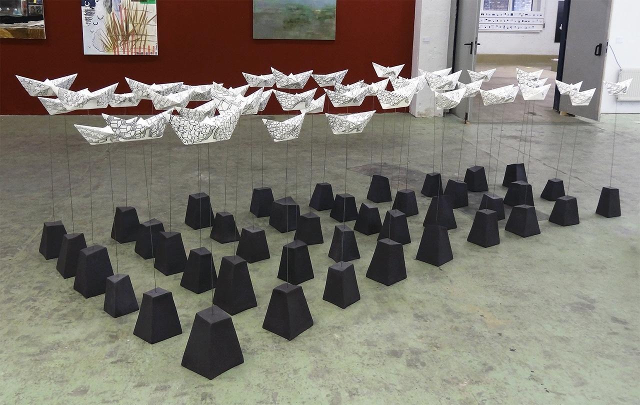 In between where – Installation Kunstopfer – transformart Berlin – 2017